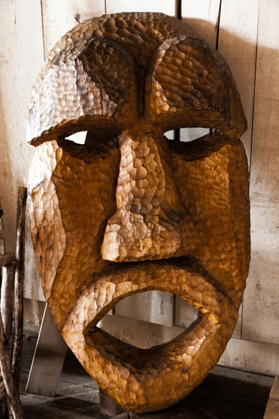 wooden religious mask