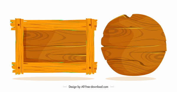 wooden signboard templates classical round rectangular shapes