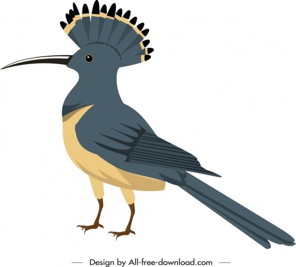 woodpecker icon colored cartoon sketch