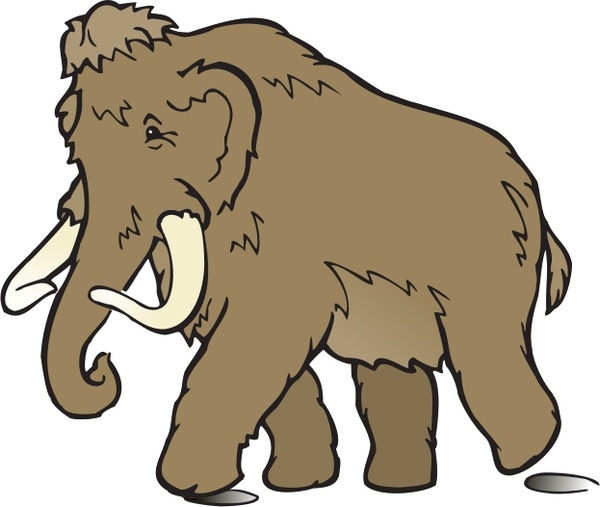 Flat mammoth, flat material, flat, cartoon png image and clipart.