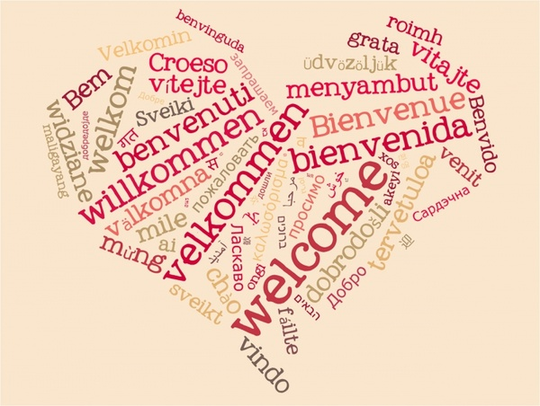 wordcloud welcome heart