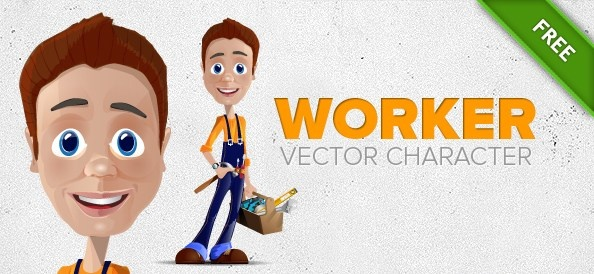 Worker vector character Free vector in Adobe Illustrator ai (  ai