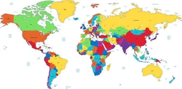 world map 07 vector