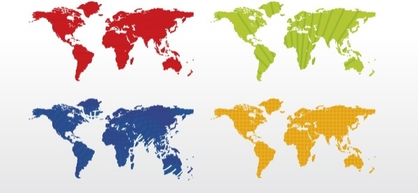 World map 4 colors free vector in adobe illustrator ai world map 4 colors free vector 38180kb gumiabroncs Gallery