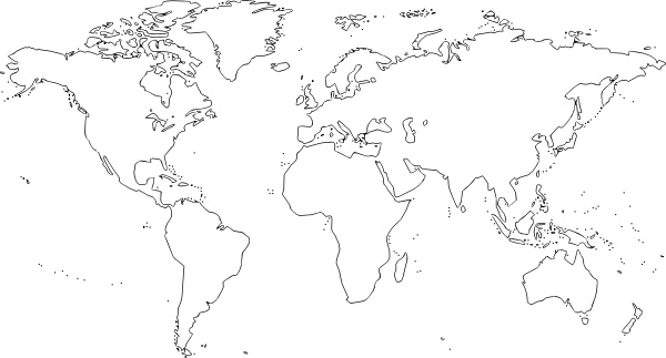 World Map clip art Free vector in Open office drawing svg ( .svg ...