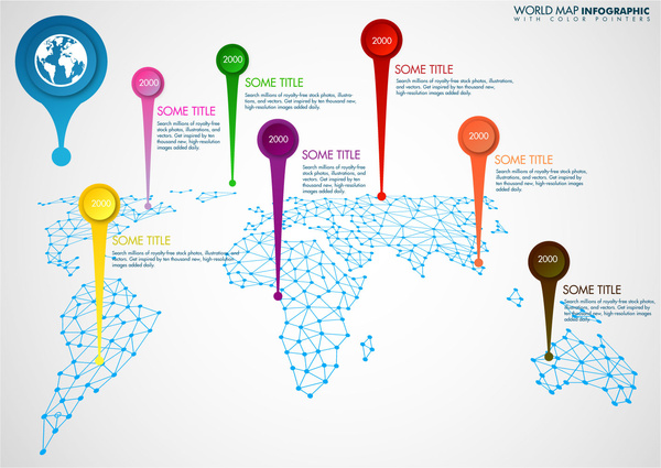World map infographic design with continents illustration free world map infographic design with continents illustration gumiabroncs