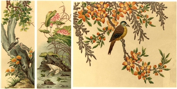 worldrenowned decorative painting the squid birds hawthorn egrets