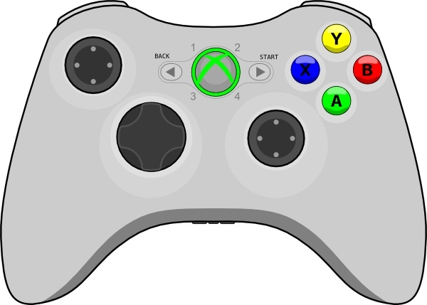 Xbox Gamepad Clip Art Free Vector In Open Office Drawing Svg Svg