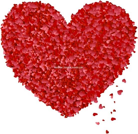 xiaotao heart petals from the peach heart vector