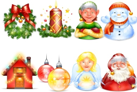 Xmas and New Year pack icons pack