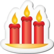 Xmas sticker candles