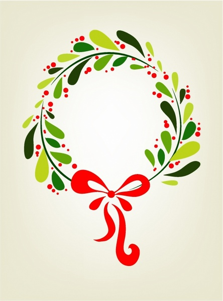 Xmas Wreath Background Free Vector In Adobe Illustrator Ai Ai