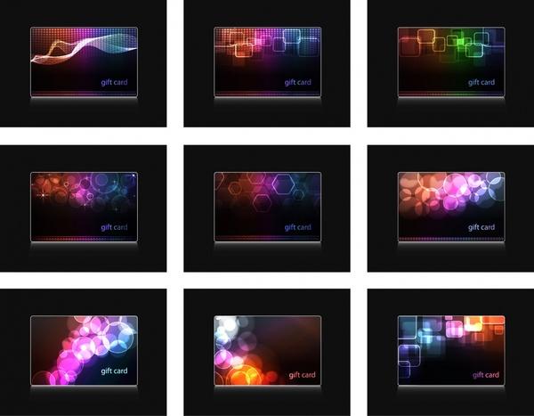 decorative background templates colorful lights effect decor
