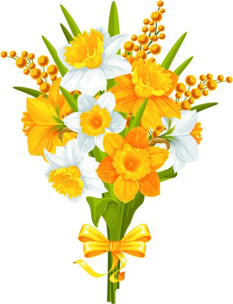 Yellow and white flowers vector Free vector in ...