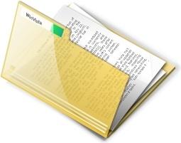Yellow open document folder