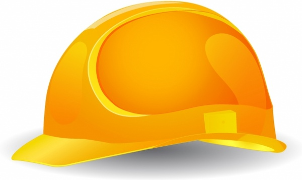 Yellow safety hard hat