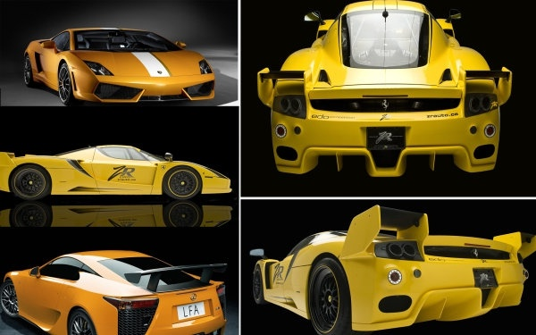 yellow sports car hd figure