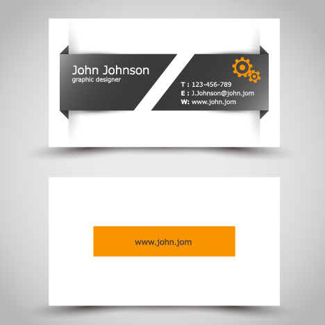 yellow style business cards anyway surface template vector