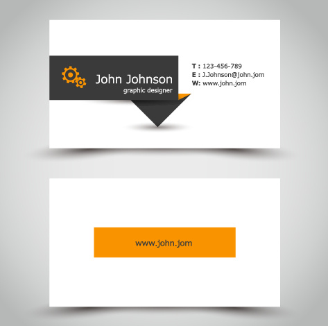 Yellow style business cards anyway surface template vector free yellow style business cards anyway surface template vector reheart Image collections