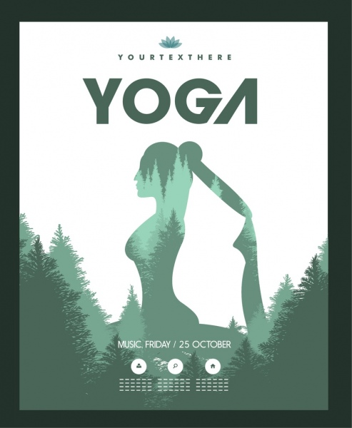 yoga poster exercising woman tree decoration silhouette Adult Clip Art Lips Clip Art