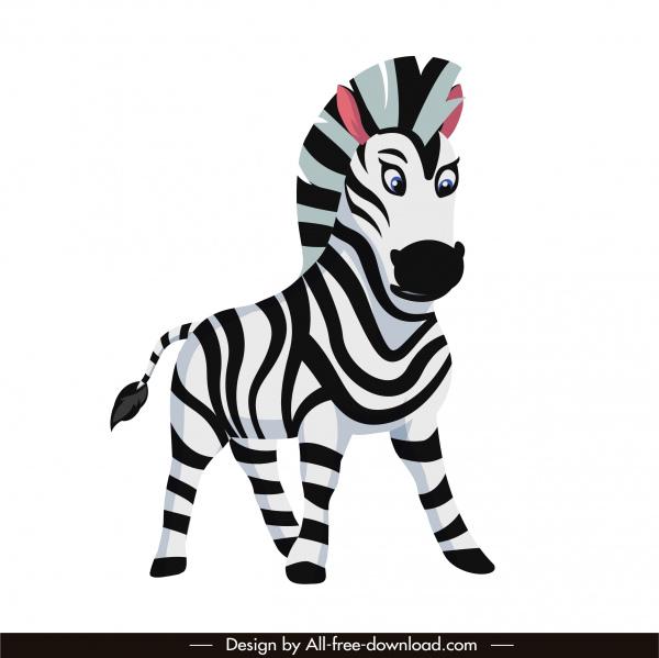 zebra horse icon cartoon character sketch