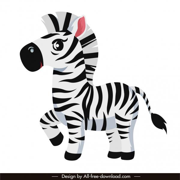 zebra horse icon cute cartoon sketch