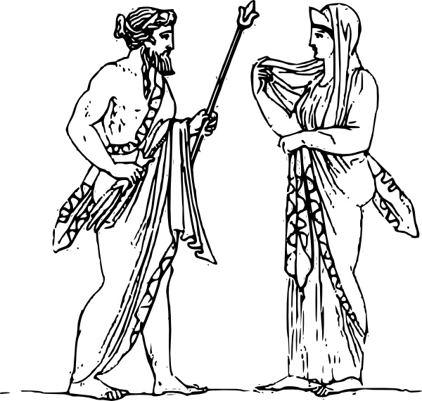 Zeus And Hera Clip Art Free Vector In Open Office Drawing Svg Svg
