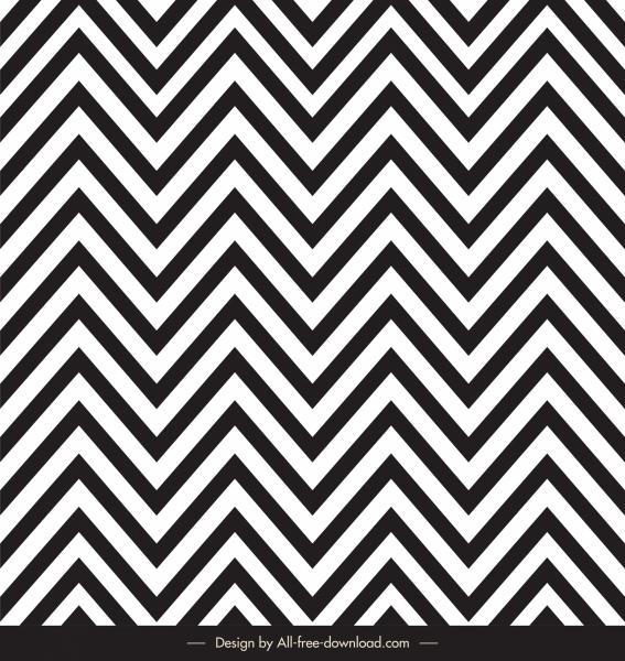 zigzag pattern template black white illussion design