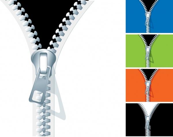 coat zipper icon template shiny colored 3d design