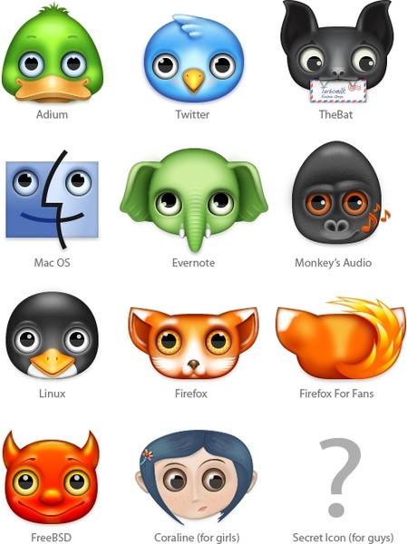 Zoom eyed creatures 2 icons pack