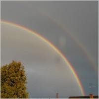 double rainbow secondary rainbow rainbow