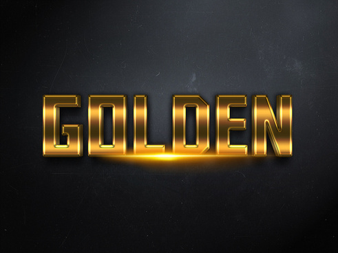 013d gold text effect 1 preview