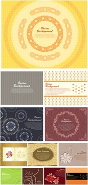 01 gorgeous shading pattern vector