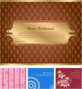 02 gorgeous shading pattern vector