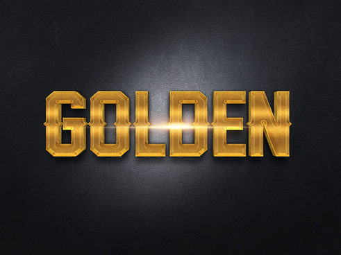 033d gold text effect 2 preview