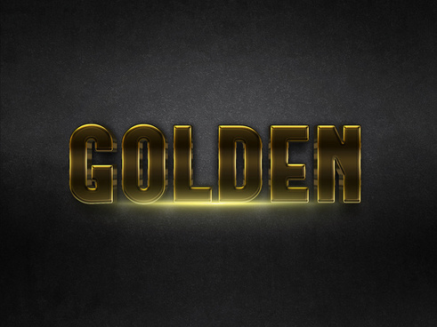 043d gold text effect 1 preview