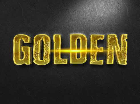 053d gold text effect 1 preview