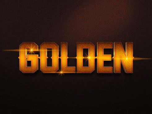 063d gold text effect 1 preview