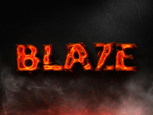 06 3d burning text effects