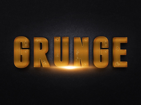 073d gold text effect 2 preview