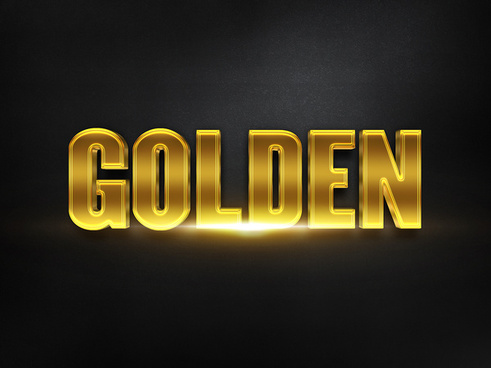 083d gold text effect 1 preview