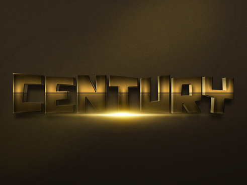 083d gold text effect 2 preview