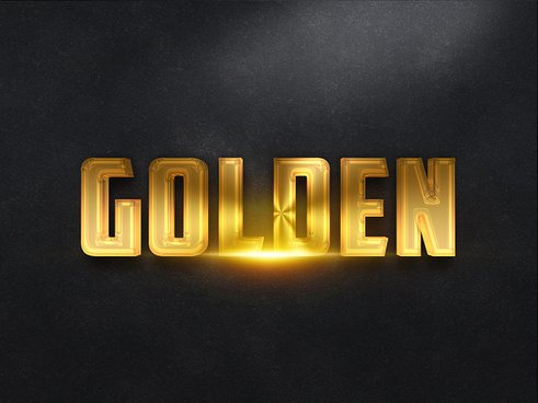 093d gold text effect 1 preview