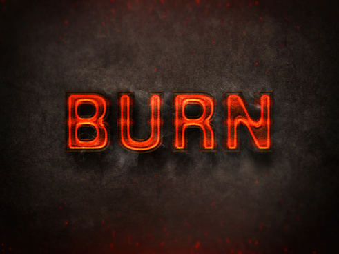 09 3d burning text effects preview