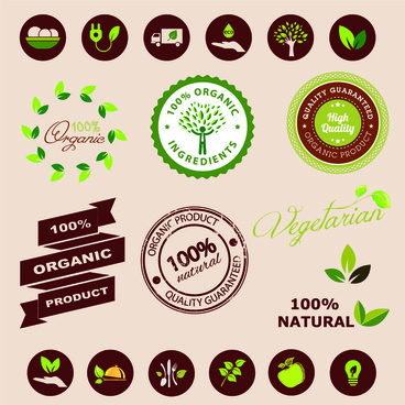 100 nature organic label
