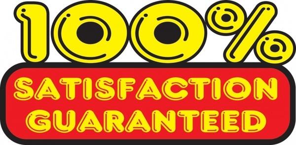 100 satisfation guaranteed sticker