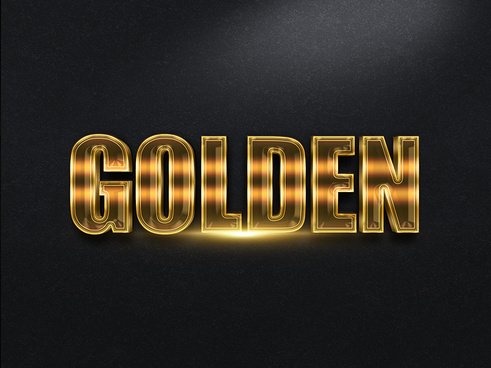 103d gold text effect 1 preview