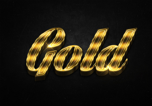 10 3d shiny gold text effects preview