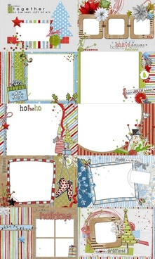 10 christmas theme collage style photo frame