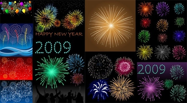 10 dazzling fireworks vector